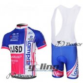 2013 Lampre Cycling Jersey And Bib Shorts Kit Blue And Red
