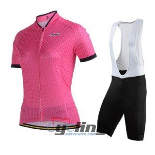 2014 Women Monton Cycling Jersey And Bib Shorts Kit Pink