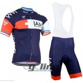 2015 IAM Cycling Jersey And Bib Shorts KitWhite And Blue