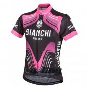 2016 Bianchi Cycling Jersey And Bib Shorts Kit Black And Pink