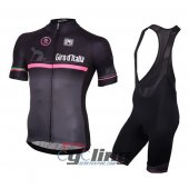 2016 Giro d'Italia Cycling Jersey And Bib Shorts Kit Black And R