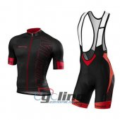 2016 Specialized Cycling Jersey And Bib Shorts Kit Black And Red