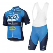 2017 Ago Aqua Service Cycling Jersey and Bib Shorts Kit blue