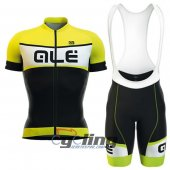 2016 ALE Cycling Jersey And Bib Shorts Kit Black And Yellow