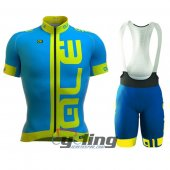 2016 ALE Cycling Jersey And Bib Shorts Kit Blue And Yellow