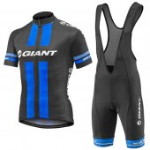 2016 Giant Cycling Jersey And Bib Shorts Kit Black And Blue