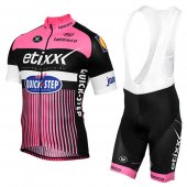 2016 Etixx Quick Step Cycling Jersey And Bib Shorts Kit Pink And Black