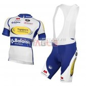 Sport Vlaanderen Baloise Cycling Jersey Kit Short Sleeve 2017 white and yellow