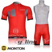 2012 Look Cycling Jersey And Bib Shorts Kit Red