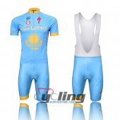 2013 Astana Cycling Jersey and Bib Shorts Kit Blue