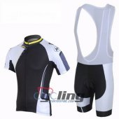 2013 Northwave Cycling Jersey and Bib Shorts Kit Black White