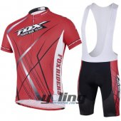 2014 Fox Cycling Jersey And Bib Shorts Kit Black And Red