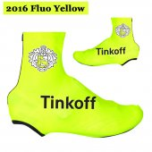 2016 Saxo Bank Tinkoff Cycling Shoe Covers yellow (2)