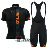 2016 ALE Cycling Jersey And Bib Shorts Kit Orange And Black