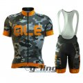 2016 ALE Cycling Jersey And Bib Shorts Kit Orange And Gray