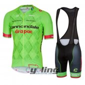 2016 Cannondale Garmin Cycling Jersey And Bib Shorts Kit Green And Black