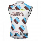 Ag2r La Wind Vest White And Blue 2016