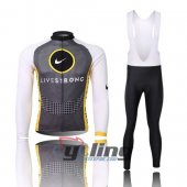 2011 LiveStrong Long Sleeve Cycling Jersey And Bib Pants Kits Gr